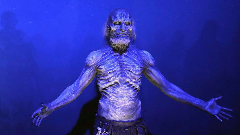 A White Walker on display during the launch of The Game of Thrones Touring Exhibition in Belfast.