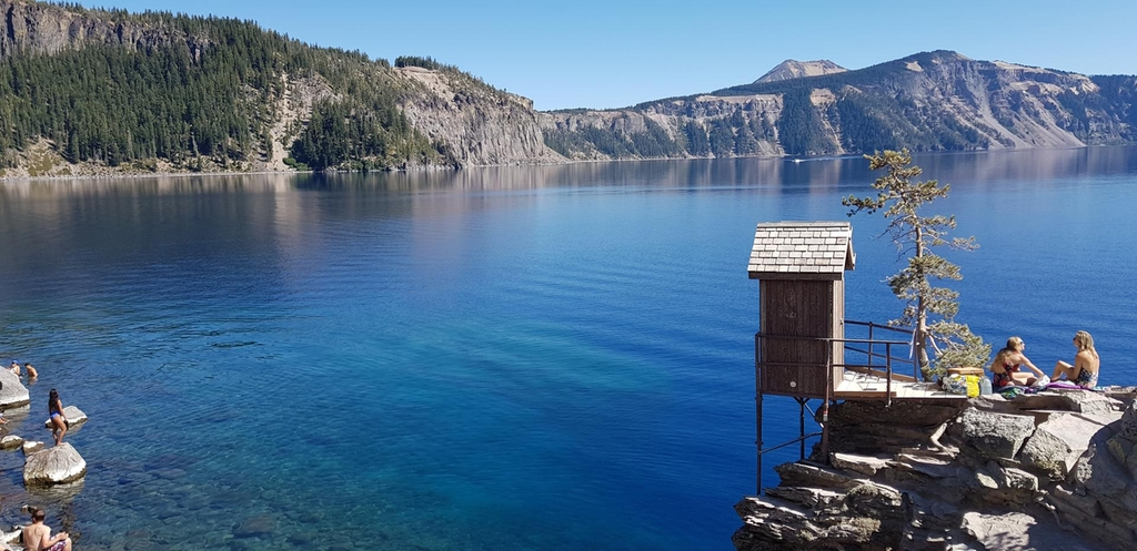 Crater lake. Courtesy Rosemary Behan