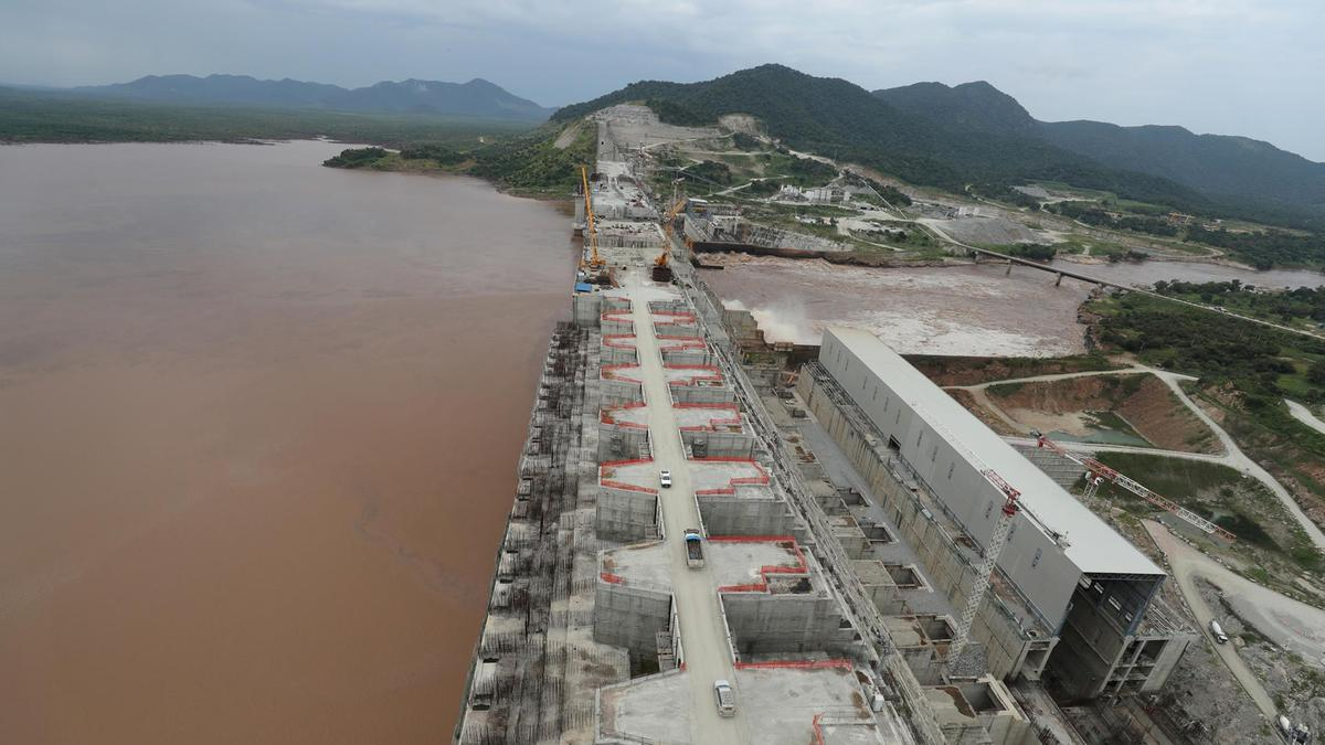 Ethiopia's Grand Renaissance Dam is seen as it undergoes construction work on the river Nile in Guba Woreda, Benishangul Gumuz Region, Ethiopia September 26, 2019. REUTERS/Tiksa Negeri/File Photo
