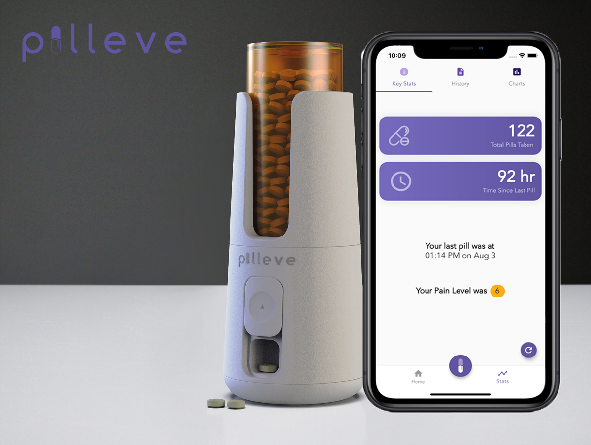 Pilleve is designed to prevent unauthorized usage of pills by tracking opioid use in real time. (Photo: supplied)