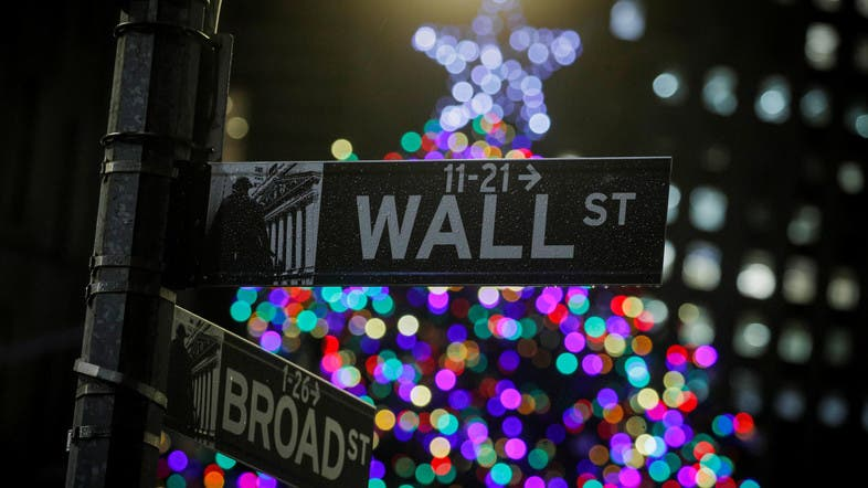 A Christmas tree is seen on The Wall St. outside the NYSE in New York. (File photo: Reuters)