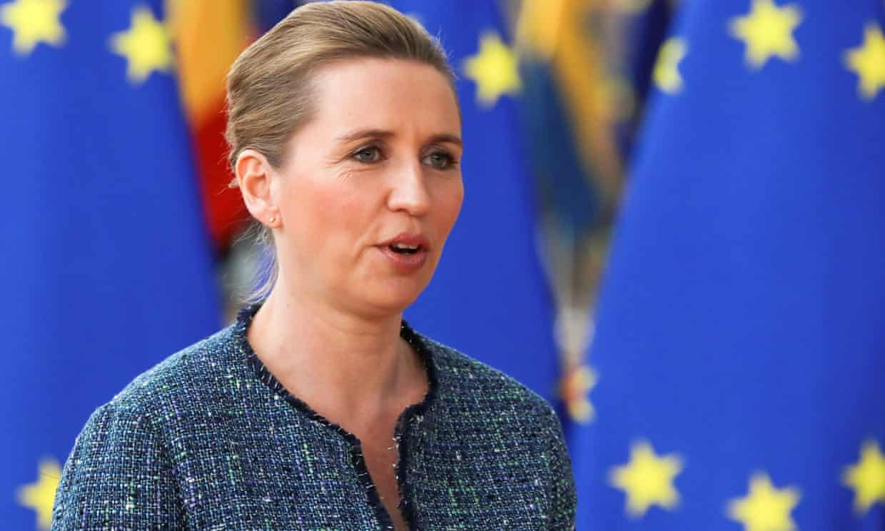 Mette Frederiksen: 'I'm prepared to stay the whole weekend, but no, I don't think we are going to reach an agreement.' Photograph: Reinhard Krause/Reuters