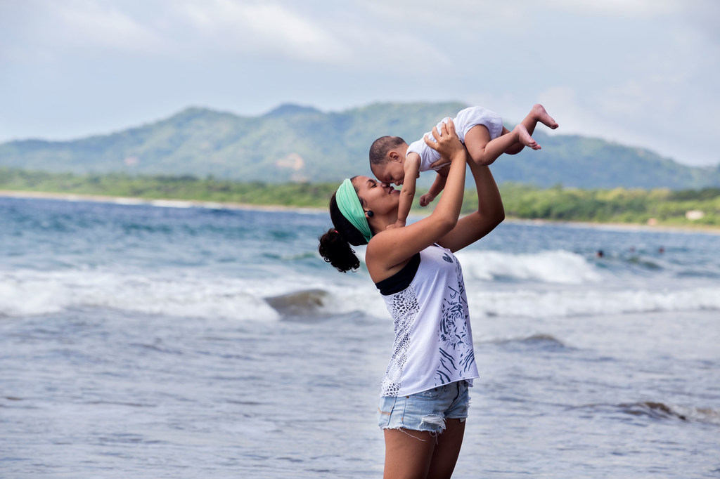 Young mother and her son in Costa Rica.
