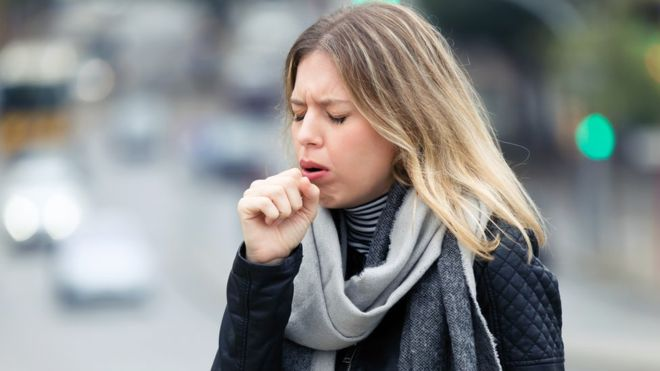 The new research suggests coughs and sneezes might project liquid further than previously thought