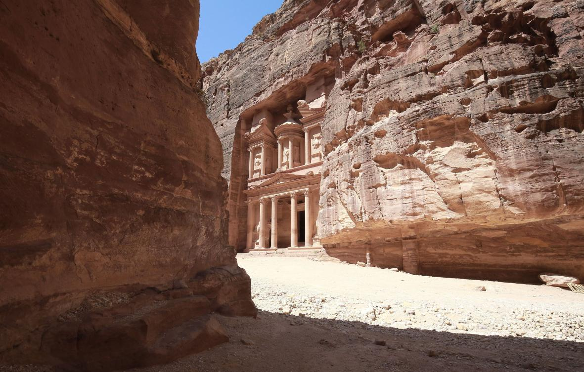 Jordan's ancient city of Petra empty of tourists amid the COVID-19 pandemic.