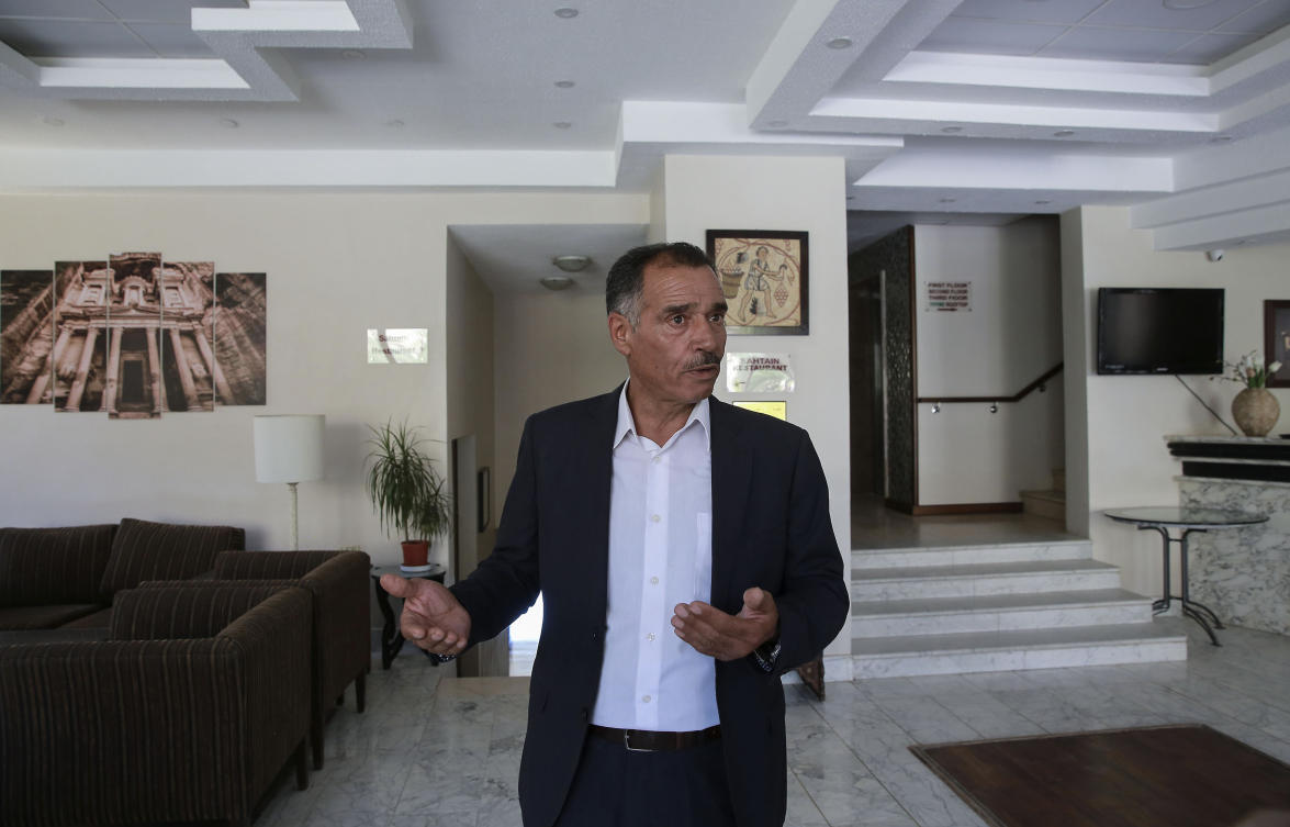 Hotel owner Tarik Twissi says his business in Petra has been devastated by the pandemic.