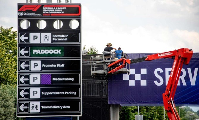 There will be no fans when the Formula One season starts at the Spielberg track in Austria, above, but political statements would be aplenty instead. (AFP)