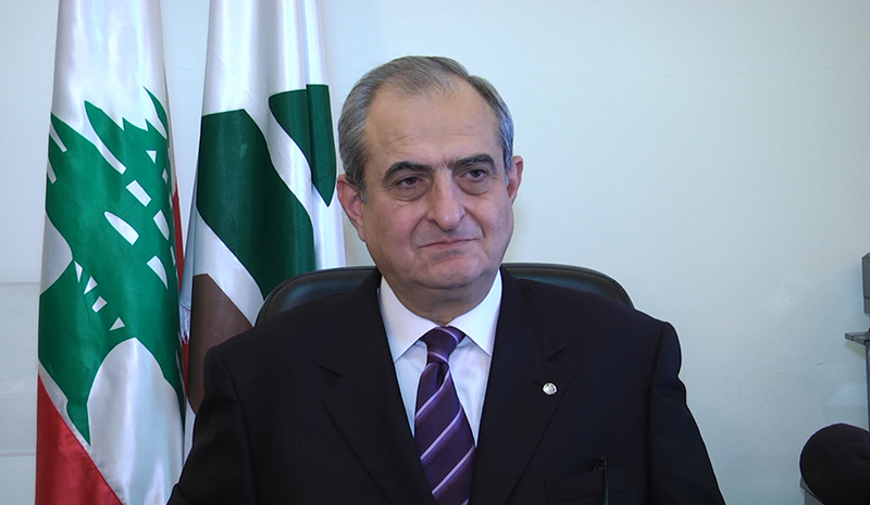 Kataeb's Secretary-General Nazar Najarian died as a result of the explosions in Beirut, Aug. 4, 2020.