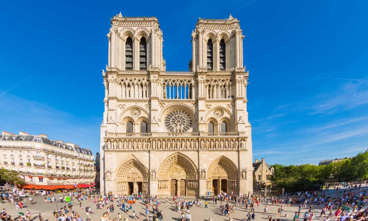 It's time someone straightened out the narrative' … Notre-Dame cathedral in Paris, which is explored in Stealing from the Saracens.