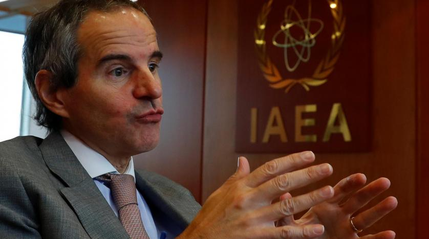 International Atomic Energy Agency (IAEA) Director General Rafael Grossi gestures